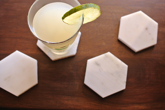 Usage of Leftover Marble as Coasters