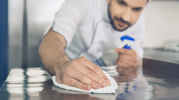 How to Sanitize a Table that has been used for food preparation