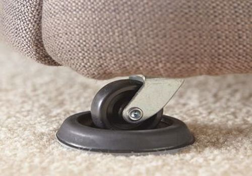 Furniture cups under bed